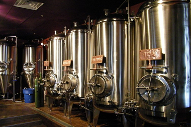 Tanks at the Vault Brewery in Yardley, PA